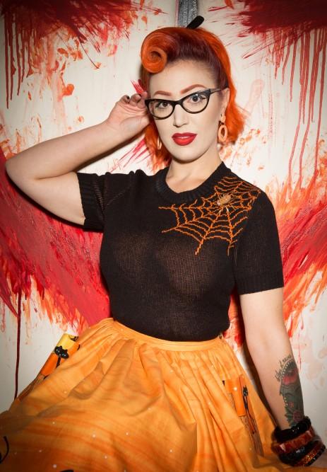 Bobbie Jumper - Spider Web - Pumpkin