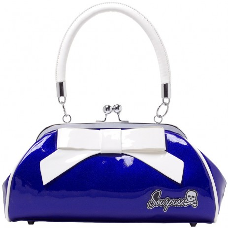 Super Floozy Handbag - Blue/White - by Sourpuss