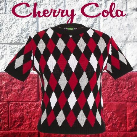 Bobbie Jumper - Harlequin - Cherry Cola