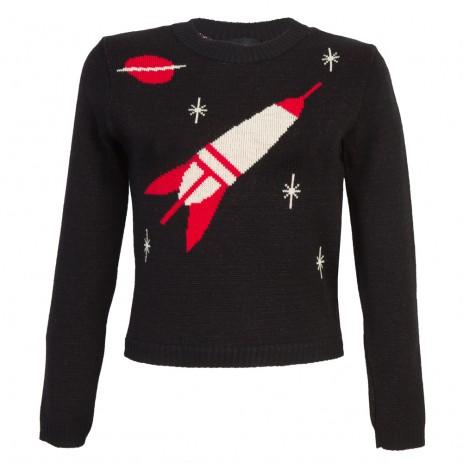 Bobbie Jumper - Space Age - Long Sleeve - Black/Red