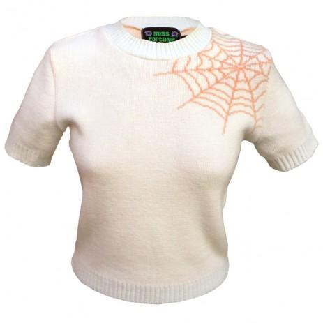 Bobbie Jumper - Spider Web - Pumpkin Spice