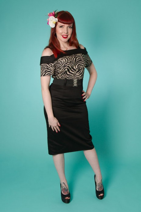 Carrie Wiggle Dress - Zebra