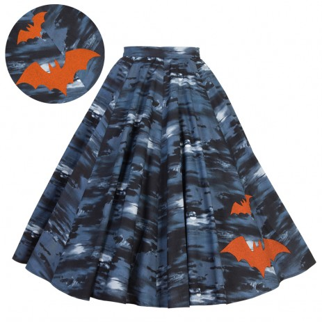 Circle Skirt - Flight of the Bats - Orange