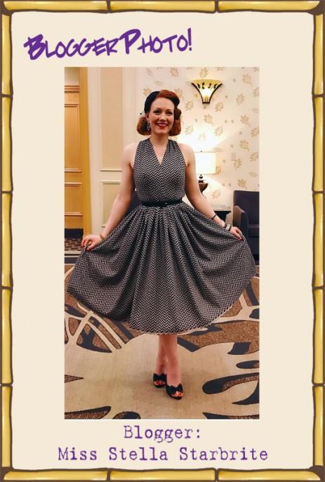 Stella Dress - Black Chevrons
