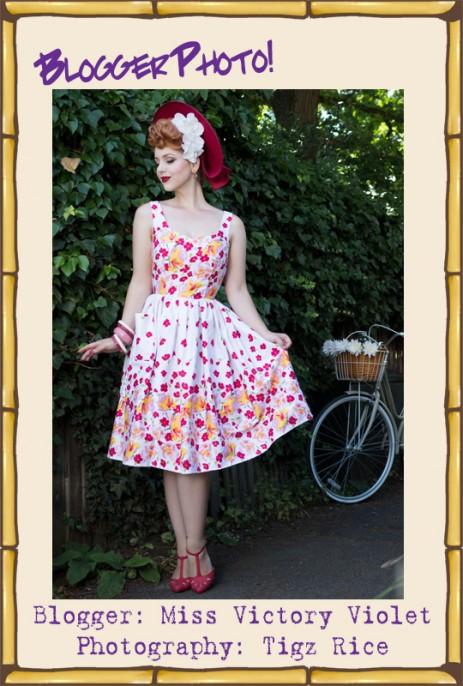 Sweet Pea Dress - Rose Border