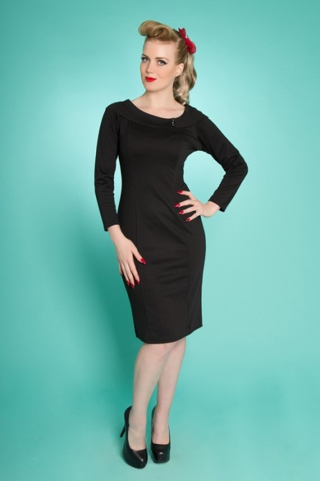Frankii Wiggle Dress - Black