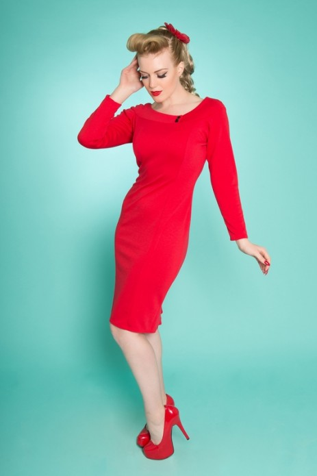 Frankii Wiggle Dress - Red