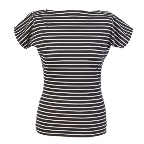Kitty Tee - Black Stripe