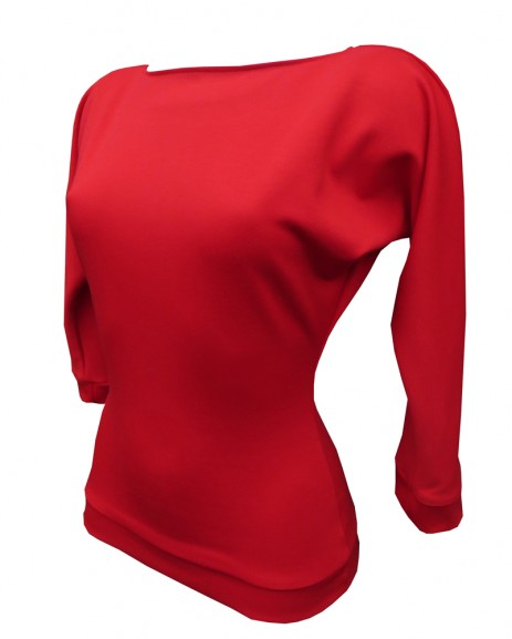 Kitty Batwing Top - Red