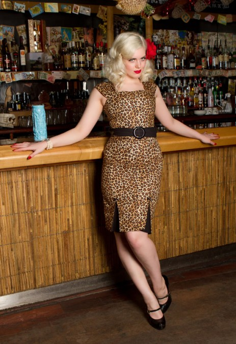 Lady Luck Wiggle Dress - Leopard