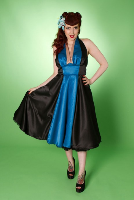 Minx Dress - Black/Blue