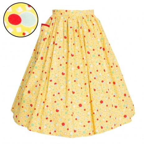Neat-O Skirt - '30s Bubbles - Lemon