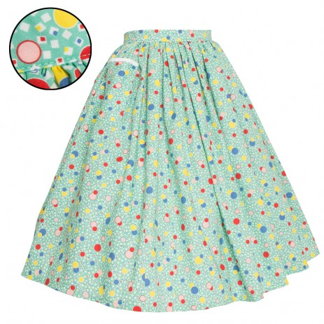 Neat-O Skirt - '30s Bubbles - Mint