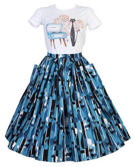 Neat-O Skirt - Retro Kitties