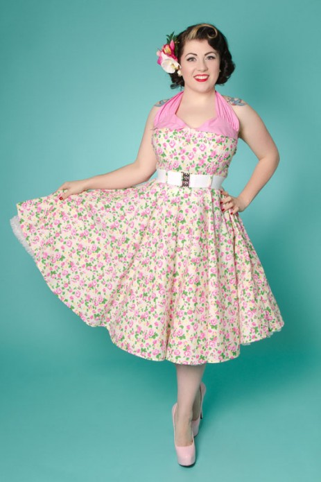 """One Fine Day"" Swing Dress - Cream Rose"