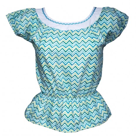 Peasant Top - Chevrons