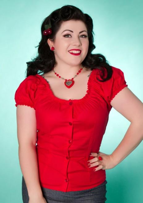 Rose Lee Top - Red