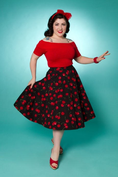 Simple Pleasures - Circle Skirt - Cherry