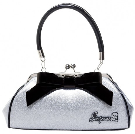 Floozy Purse - Sliver Glitter - by Sourpuss
