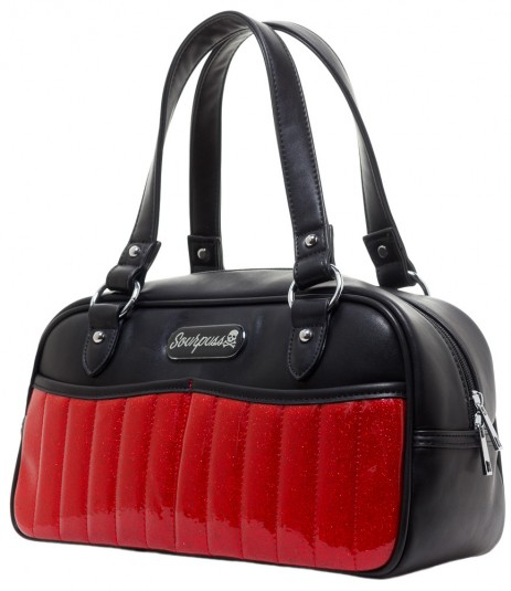 Sabrina Purse - Red/Black - by Sourpuss