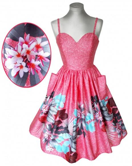 Suzie Sweetheart Dress - Tropical Border