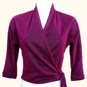 Wrap Top - Midnight Pink Lurex