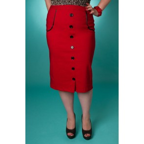 Alice Pencil Skirt - Red