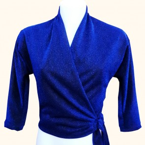 Wrap Top - Midnight Blue Lurex