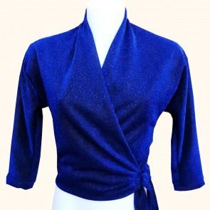Wrap Top - Midnight Blue Lurex