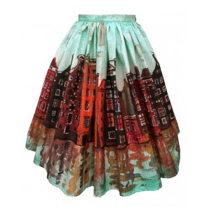 Boardwalk Skirt - Amsterdam: Reflections In Watercolour