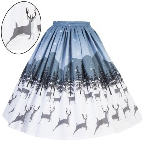 Boardwalk Skirt - Snowy Reindeer
