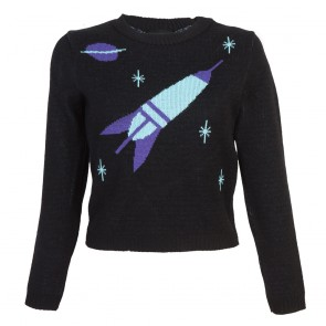 Bobbie Jumper - Space Age - Long Sleeve - Black/Purple