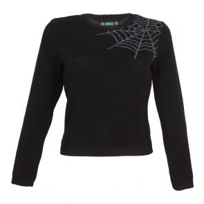 Bobbie Jumper - Spider Web - 3/4 Sleeve - Liquorice
