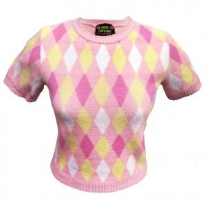 Bobbie Jumper - Harlequin - Pink Lemonade