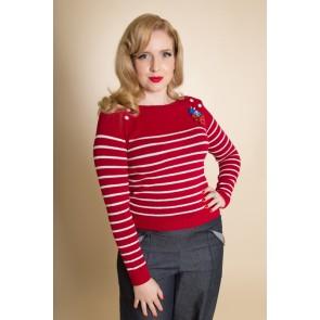 Breton Stripe Jumper - Red/White