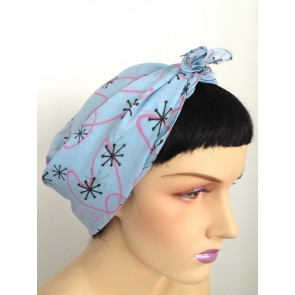Chiffon Scarf - Square - Blue Atomic