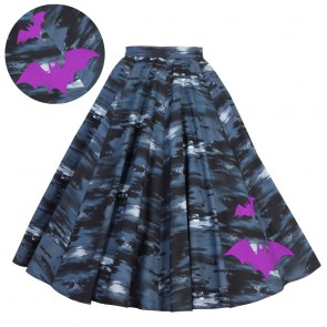 Circle Skirt - Flight of the Bats - Purple