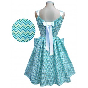Summer Belle Dress - Chevrons