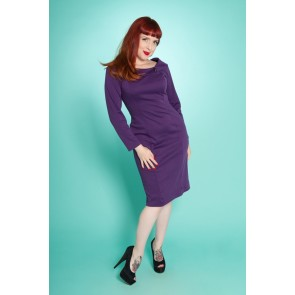 Frankii Wiggle Dress - Purple