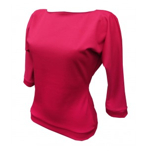 Kitty Batwing Top - Cerise