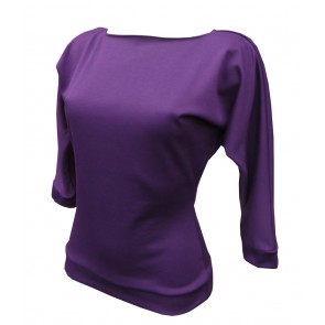 Kitty Batwing Top - Purple