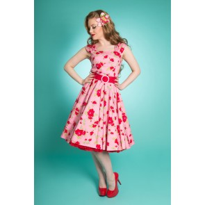 Lady Luck Swing Dress - Pink Rose