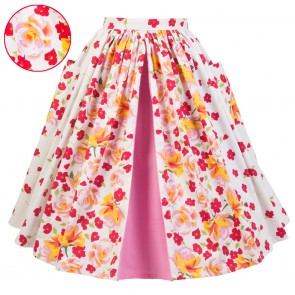 Rose Border Skirt