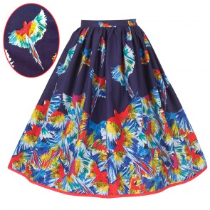 Boardwalk Skirt - Parrots In Flight