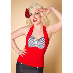 Nautical Jersey Halter Top