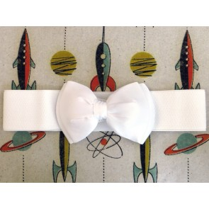 Bow Belt - White