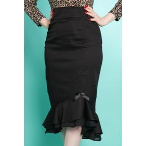 Rosa Wiggle Skirt - Black