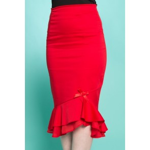 Rosa Wiggle Skirt - Red