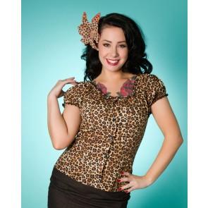 Rose Lee Top - Leopard (Dark)