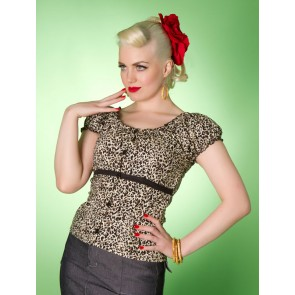 Rose Lee Top - Leopard (Light)